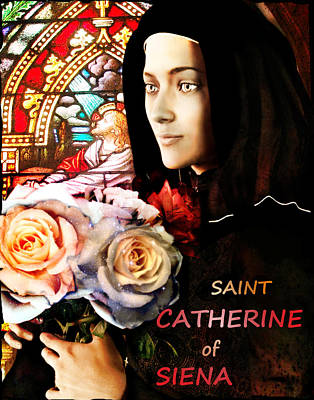 Saint Catherine Poster by Suzanne Silvir