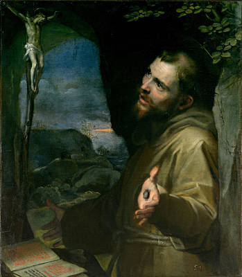 Poster featuring the painting Saint Francis by Federico Barocci