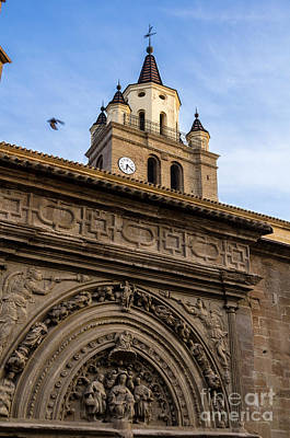 Poster featuring the photograph Saint Hieronymus Facade Of Calahorra Cathedral by RicardMN Photography