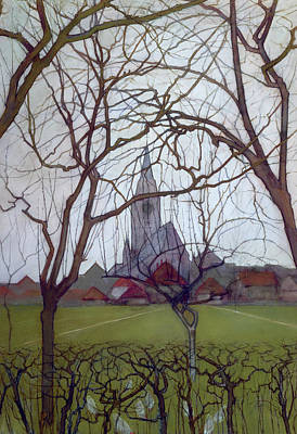 Saint Jacob's Church, Winterswijk Poster by Piet Mondrian