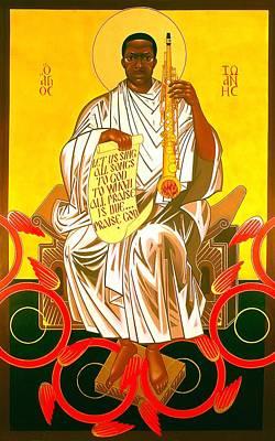 Saint John Coltrane Enthroned Poster by Mark Dukes