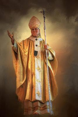 Poster featuring the photograph Saint John Paul The Second by Donna Kennedy