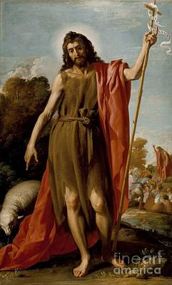 Saint John The Baptist In The Wilderness Poster by MotionAge Designs