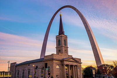 Saint Louis Icons - Downtown Saint Louis Missouri Poster by Gregory Ballos