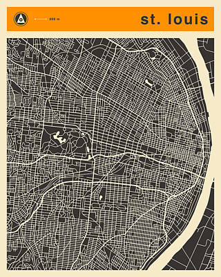 St Louis Map Poster