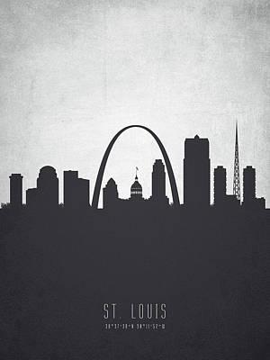 Saint Louis Missouri Cityscape 19 Poster