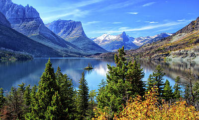 Saint Mary Lake In Glacier National Park Poster