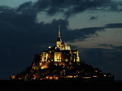 Poster featuring the photograph Saint Michel Mount After The Sunset, France by Yoel Koskas