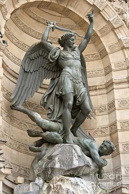 Saint Michel Striking Down The Dragon II Poster
