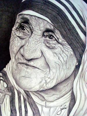 Mother Teresa Saint Of Calcutta  Poster by Jevie Stegner
