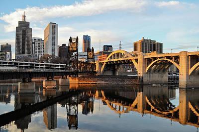 Saint Paul Mississippi River Sunset Poster