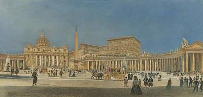 Saint Peter's Rome Poster by Rudolf von Alt