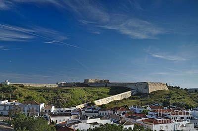 Saint Sebastian Fort And Roofs In Portugal Poster by Angelo DeVal