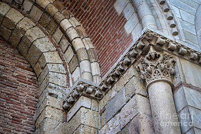 Saint Sernin Basilica Architectural Detail Poster by Elena Elisseeva