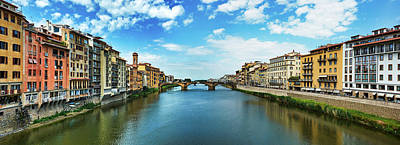 Saint Trinity Bridge From Ponte Vecchio Poster