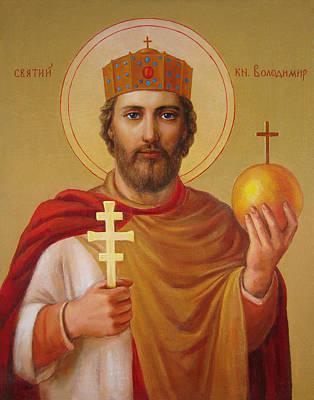 Saint Volodymyr Poster by Svitozar Nenyuk