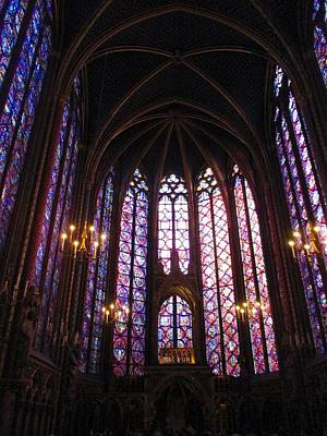 Poster featuring the photograph Sainte-chapelle by Christopher Kirby