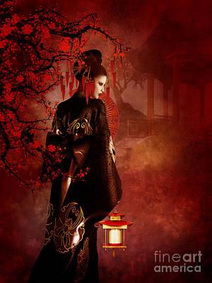 Sakura Red Poster
