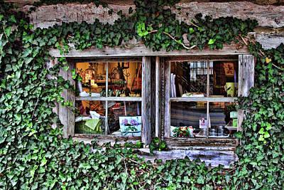 Salado Log Cabin Window Poster by Linda Phelps