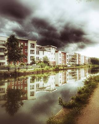 Poster featuring the photograph Sale Canal by Isabella F Abbie Shores FRSA