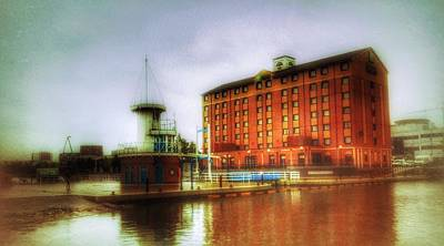 Poster featuring the photograph Salford Quays Edge by Isabella F Abbie Shores FRSA