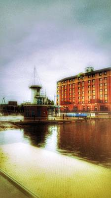 Poster featuring the photograph Salford Quays Red Brick Building by Isabella F Abbie Shores FRSA