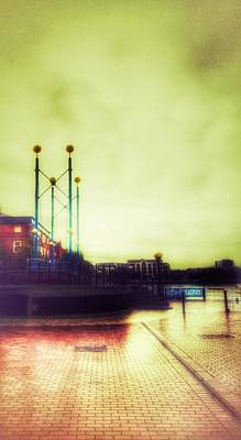 Poster featuring the photograph Salford Quays Walkway by Isabella F Abbie Shores FRSA
