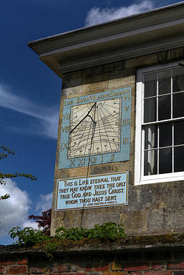 Salisbury Sundial Poster