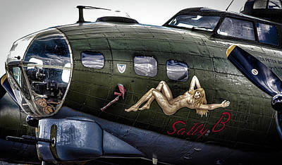 Sally B Poster by Martin Newman