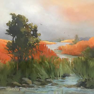 Poster featuring the painting Salmon Creek by Helen Harris