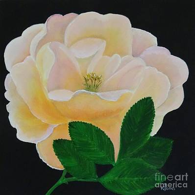 Salmon Pink Rose Poster by Karen Jane Jones