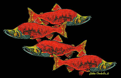 Salmon Season Poster by Debbie Chamberlin
