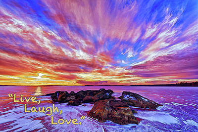 Poster featuring the photograph Live, Laugh, Love by ABeautifulSky Photography