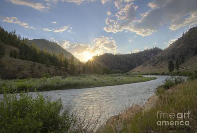 Salmon Sunset Poster by Idaho Scenic Images Linda Lantzy
