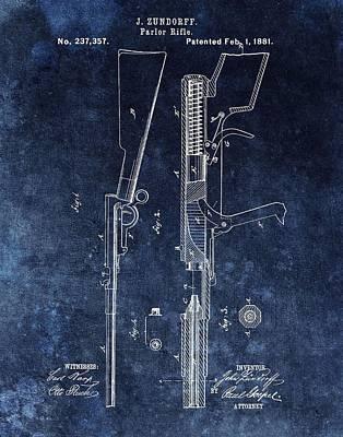 Saloon Gun Patent Poster by Dan Sproul