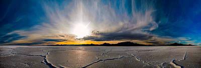 Salt Flats Sunset Poster