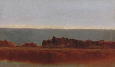Salt Meadow In October Poster by John Frederick Kensett