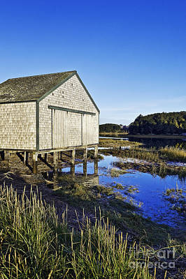 Salt Pond Boathouse  Poster by John Greim