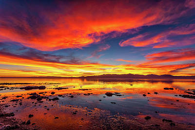 Salton Sea Sunset Poster by Peter Tellone