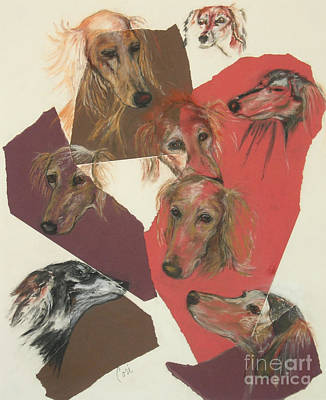 Saluki Heads Poster by Cori Solomon