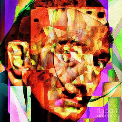 Salvador Dali In Abstract Cubism 20170401 Square Poster by Wingsdomain Art and Photography