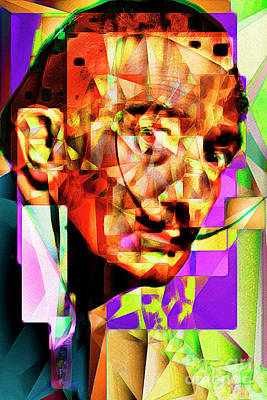Salvador Dali In Abstract Cubism 20170401 Poster by Wingsdomain Art and Photography