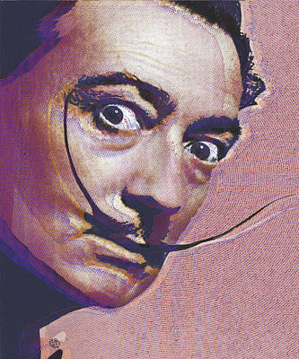 Salvador Dali Pop Art Painting 1 Poster by Tony Rubino