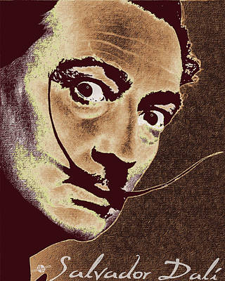 Salvador Dali Pop Art Painting And Signature Poster by Tony Rubino