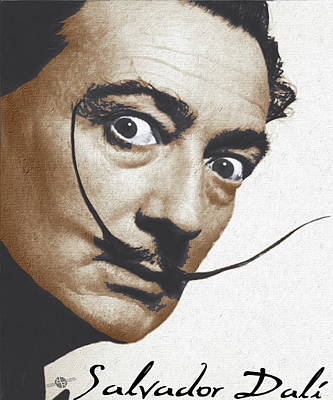 Salvador Dali Realistic Painting With Signature Poster by Tony Rubino