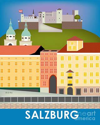 Salzburg Austria Vertical Scene Poster by Karen Young