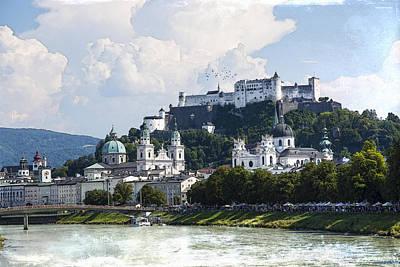 Salzburg Castle Poster by Ron Jones