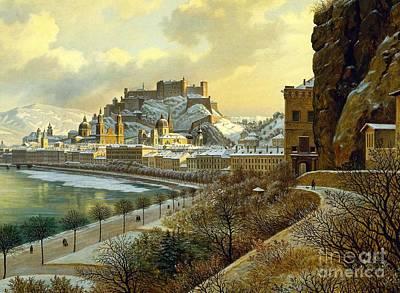Salzburg Im Winter Poster by MotionAge Designs