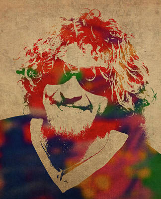 Sammy Hagar Van Halen Watercolor Portrait Poster