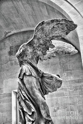 Samothrace Bw IIi Poster by Chuck Kuhn